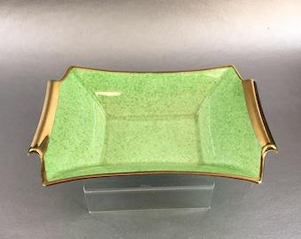 "6"" Minty Green Antique Art Deco Royal Winton Grimwades Trinket Dish Bowl"
