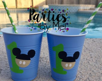Baby Mickey Mouse cups, Mickey Party cups, Mickey Mouse club house, Birthday cups, Mickey Mouse birthday party, Mickey Mouse Party
