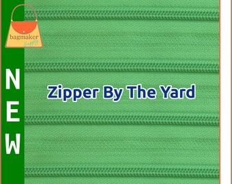 Zipper By The Yard, YKK 536 Lime Green, Number 5 Nylon Coil, Purse Handbag Bag Making Spring Green Sewing Notions, ZIP-AA223 New Item