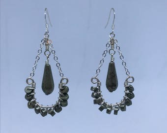 Pyrite Wire Wrapped Earrings