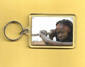 The Walking Dead Rick Grimes Michone Plastic Keychain #2