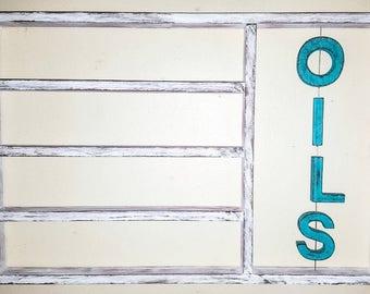 Essential oils shelf, essential oil storage, oil shelf, unique gift, wood shelf, hanging shelf, essential oil holder, housewarming gift