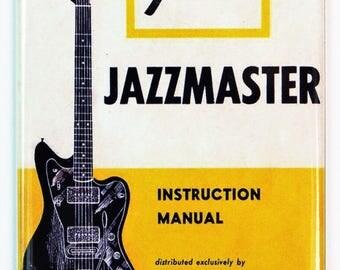 Vintage Fender Jazzmaster Guitar  Instruction Manual FRIDGE MAGNET