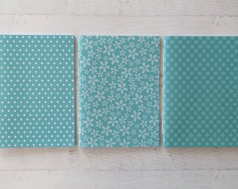 Teal Softcover Notebook Journal Travel Notebook Stationery Hand Bound 32 Lined White Pages *** Sold Individually ***