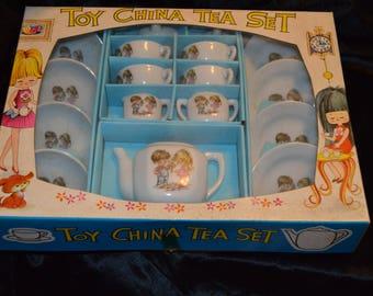 Vintage Toy China Tea Set