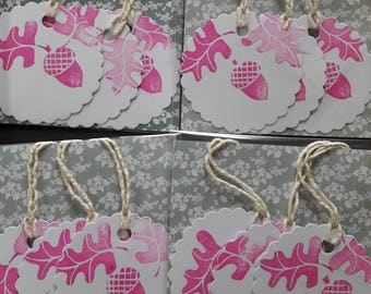 Acorn gift tags pack of 3