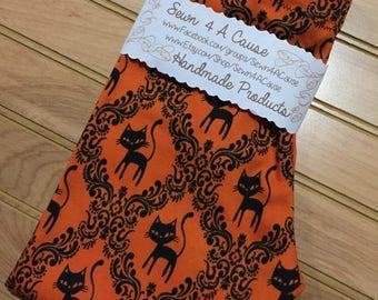 Leggings/Pajama Pants - Black Cat - Orange/Black/Halloween
