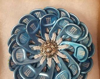 Light blue hair pin | soda tab | handmade | upcycle | READY TO SHIP