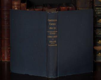 Antique Goethe Chautauqua Course 1891 Goethe, Schiller, Richter, Klopstock, Wieland and more - Classic German Course in English, Wilkinson,
