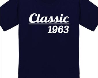 55th Birthday T Shirt Classic 1963 T-Shirt Milestone Birthday Party Gift