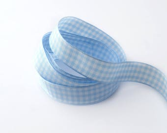 16 mm the meter gingham Ribbon