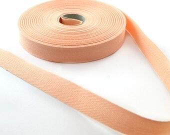 Cotton twill 14.5 mm Ribbon