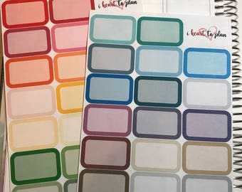 Rounded Half Boxes    40 Stickers