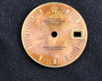 Ladies ROLEX Date-Just VINTAGE 26mm Wooden Dial