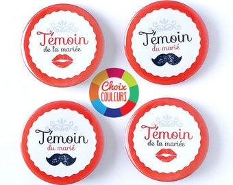 Kit witness customizable mustache (color) 38 mm badges