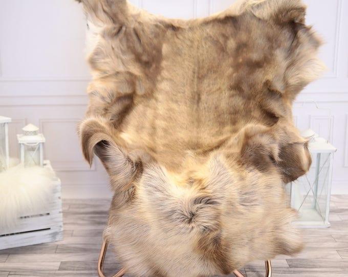 Reindeer Hide | Reindeer Rug | Reindeer Skin | Throw XXL LARGE  - Scandinavian Style #1RE9