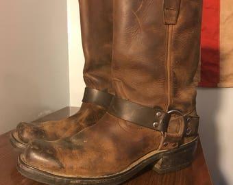 Durango brown leather harness boots size 9D men's women's 10 1/2