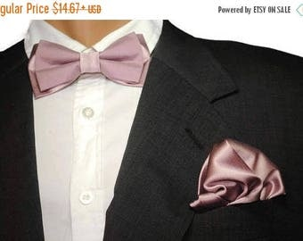 15% off dusty purple wedding dusty purple silk bow tie dusty purple pocket square men bowtie gift men gift husband gift anniversary cuff lin