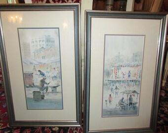 JAPAN ORIGINAL WATERCOLOR Paintings by Paul Kuo