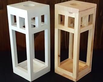 Craftsman style wooden lantern