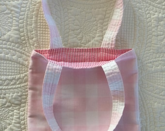 Reversible Pink and White Tote Bag