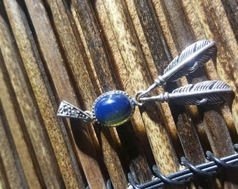 Blue Amber Necklace,- Amber Beads Silver Necklace GorgeousBlue Amber Jewelry