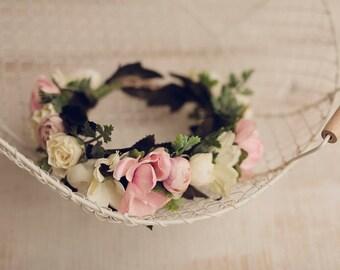 Delicate Flower Head Wreath, Boho Flower Crown, Weeding Crown, Flower Head Wreath, Delicate Girl Crown, Boho Flower Head Wreath