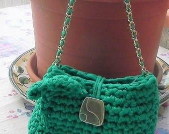 Handmade bag gift Ribbon CROCHET bag