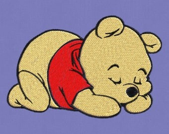 Embroidery design Winnie Pooh teddy bear pes hus jef vp3 vip dst exp