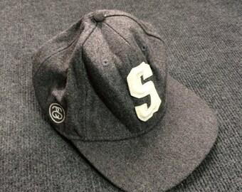 On Sale 28% Vintage Stussy Hat Snapback logo Skateboard Caps