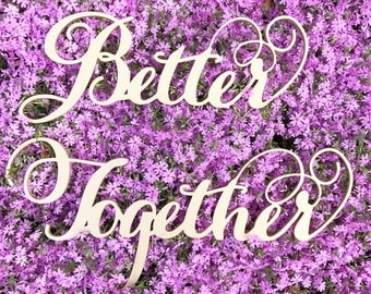 Better Together Sign - Better Together Chairs Decor - Better Together Signs for Photo