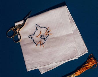Embroidered handkerchief - Maurice