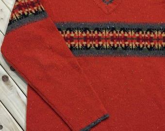 Eddie Bauer Lambswool V-neck Sweater