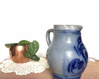 Small pottery pitcher/vase measuring pitcher