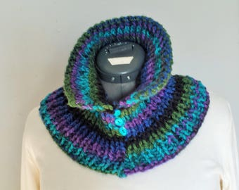 Marine Collar Cowl - Hand Knitted for Adult Size
