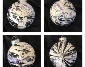 Fear and Loathing in Lost Vegas - Hitchhiker- Galaxy - Take the Ride - Hunter S Thompson - Ralph Steadman - Christmas Ornament