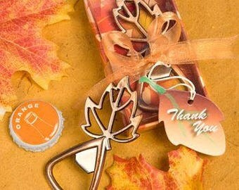 Fall wedding favor etsy maple leaf bottle opener fall wedding favors pack of 25 junglespirit Image collections