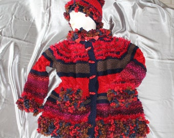 sweater, coat, lisa, 4, hand knitted