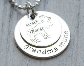 Mama Moose Necklace - Personalized