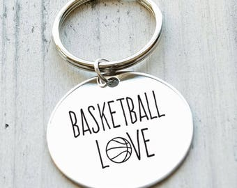 Basketball Love Personalized Key Chain - Engraved