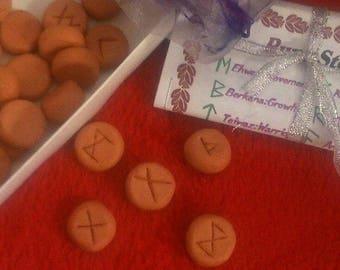 Handmade clay Rune Stones. Wicca. Pagan. Guidance