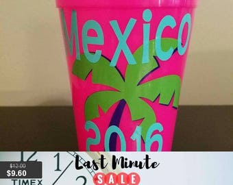 Quicup Spiker plastic tumbler, Personalized Stadium Cup with lid straw, monogram, 22 oz custom drinkware, bachelorette, bpa free, 7 colors