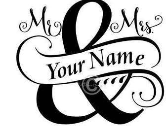 Split Monogram Svg, Wedding Svg, Mr and Mrs Svg, Split Mr. And Mrs Svg, Dxf, Mr Mrs Clipart