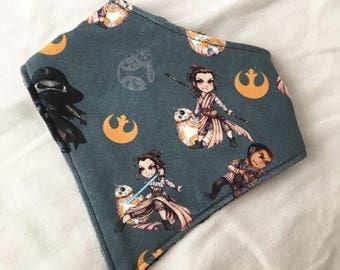 Star Wars Force Awakens Jedi Rey, Finn, BB8, abd Kylo Ren Baby Bandana Bib