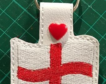 England Flag Key Fob