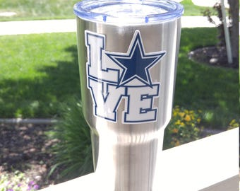 New! Custom COWBOYS Tumbler Vinyl Decals Stickers Fits 30oz & 20oz Cups YETI/RTIC  7 Styles! Free Shipping Buy 2 Get 1 Free