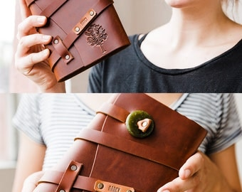50% OFF SALE! TREE Travel Notebook Refillable Leather Journal Full Grain Leather Notebook Journal leather refillable Notebook gift for girls