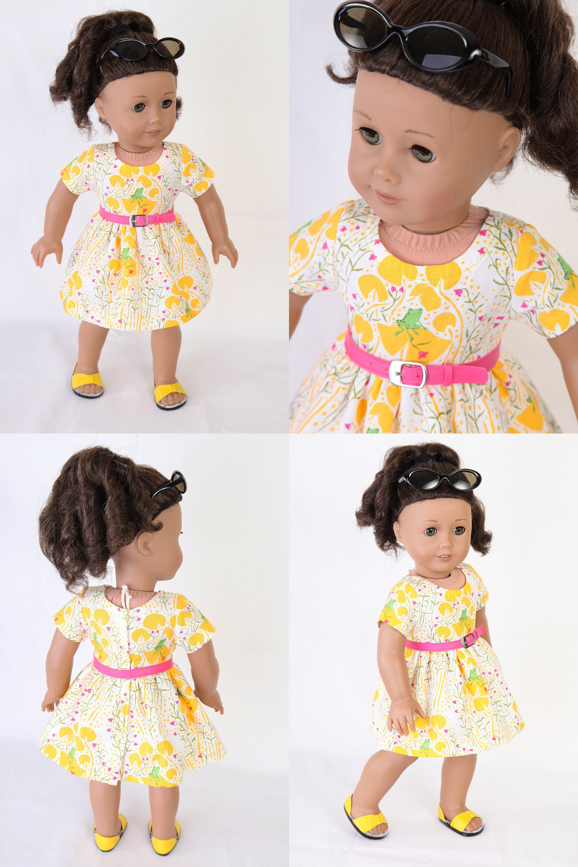 Handmade to fit like an American Girl Doll Dress MODERN SUMMER CHIC