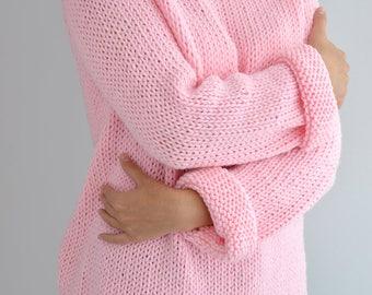 Knit Sweater Pattern // Oversized Sweater Pattern, Easy Sweater Pattern, Knit Raglan Sweater Jumper, Knit Pullover, Easy Knitting Pattern