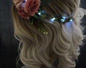 NEW- Improved design- Adjustable LED Flower Crown, festival, rave, headband,